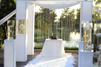 Wedding, Ceremony, Decor, Orchids, Aisle, , Canopy