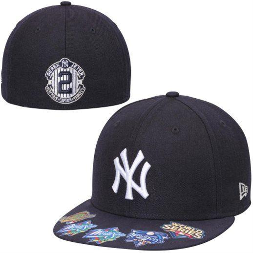 New Era Derek Jeter New York Yankees 5 Time World Series Champion 59fifty Fitted Hat Yankees Mlb Nyy New York Yankees Yankees Team Yankees