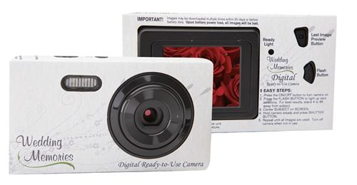 Wedding Themed Disposable Digital Camera With Color LCD