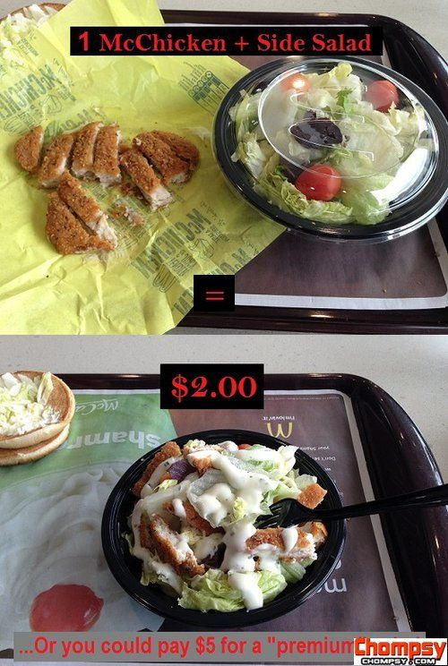 chicken salad mcdonalds | Funny Pictures | Food, Fast food ...