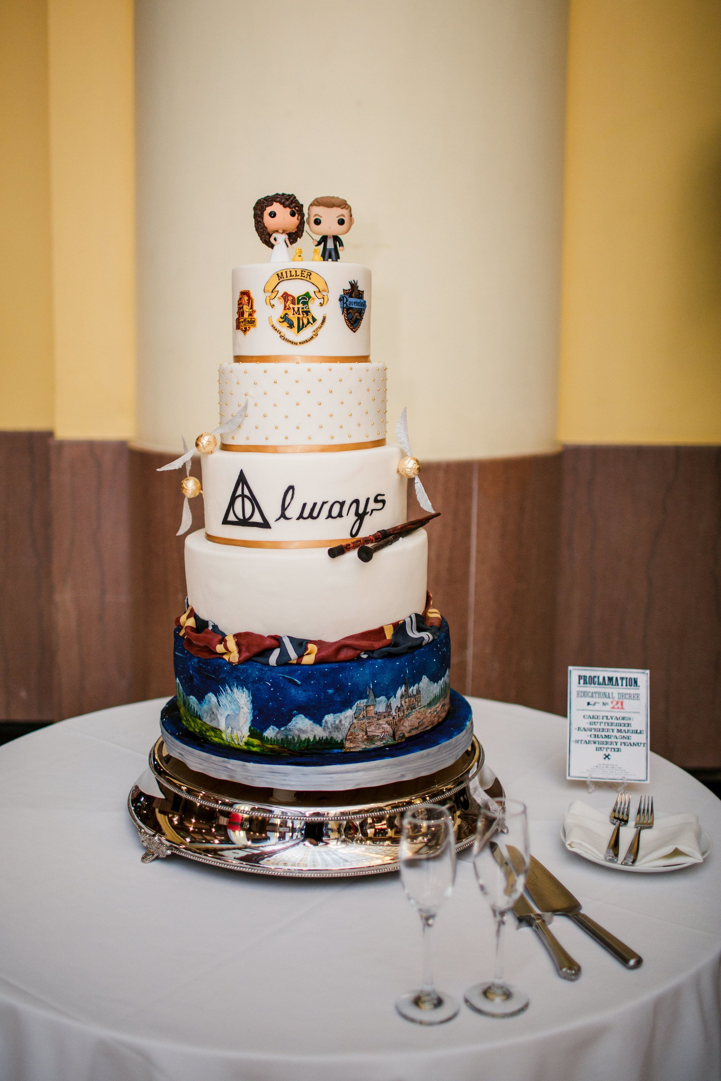 Harry Potter Wedding Cake.Harry Potter Wedding Cake Made By Oh Crumbs Bakery For My