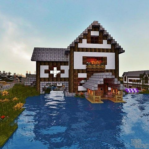 House On The Lake Minecraft Map Minecraft Projects Minecraft