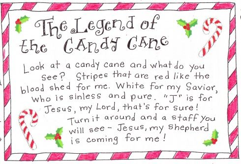 The Legend Of The Candy Cane Free Printable Happy Home Fairy Candy Cane Legend Candy Cane Story Candy Cane Crafts