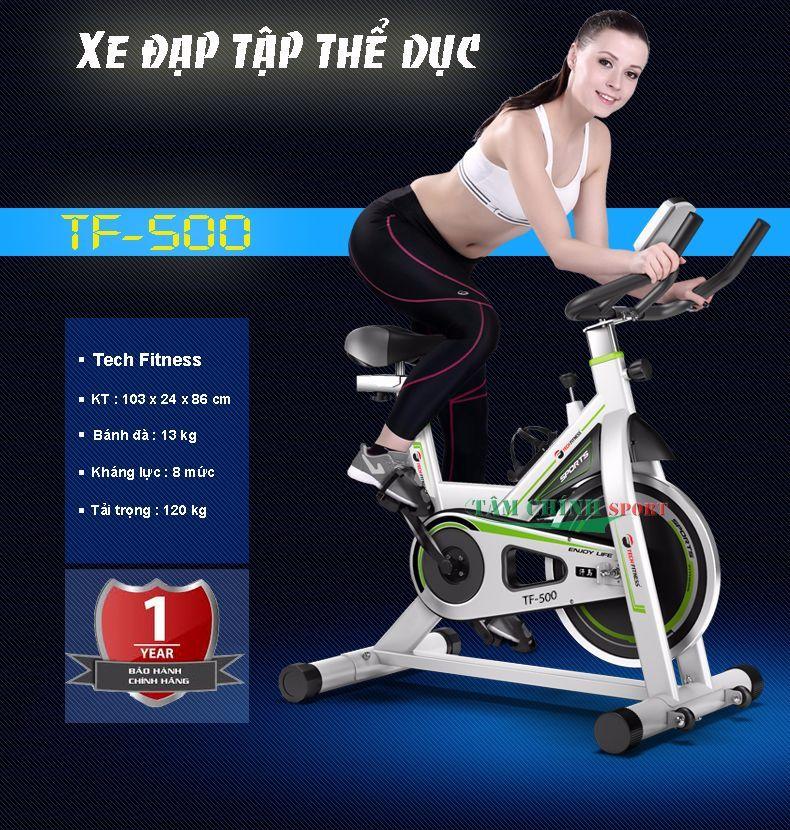 Giá : 4.650.000 VNĐ Xe đạp tập thể dục Tech Fitness TF-500 được sản xuất trên dây chuyền công nghệ tiên tiến nhất hiện nay. Kiểu dáng thiết kế nhỏ gọn phù hợp nhiều không gian trong gia đình. Khung…