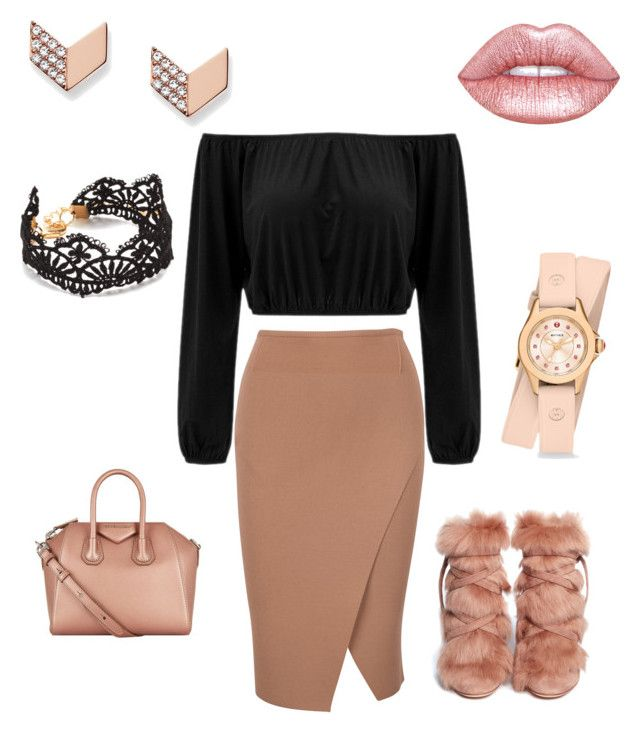 """""""Glam 4"""" by glowgetter on Polyvore featuring Gianvito Rossi, Givenchy, Michele, FOSSIL and Lime Crime"""