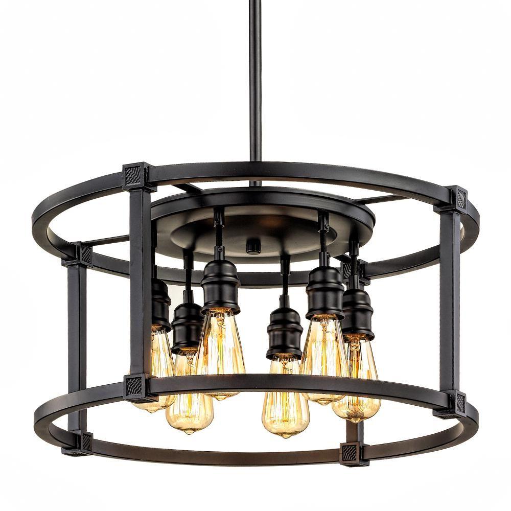 Loft light dinette the aged bronze finish highlights the