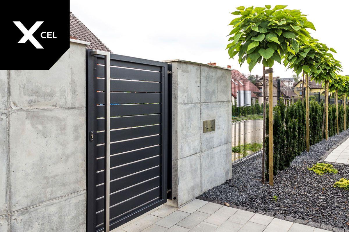 Xcel Modern Fence Rockina Cubero And Arete Horizon Aluminum And