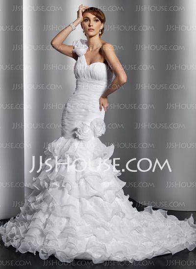 Vestidos de novia - $226.99 - Corte sirena Un sólo hombro Cola corte ...