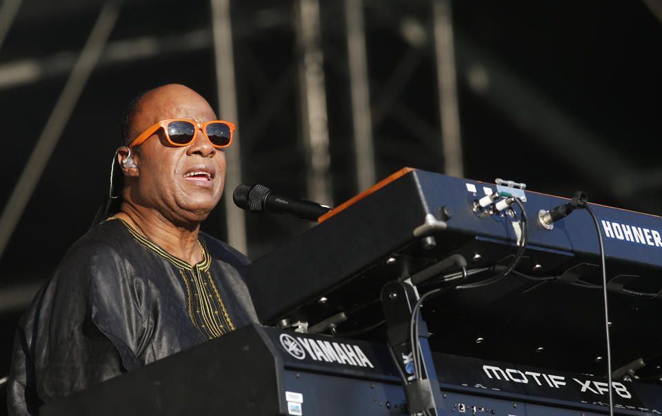 """Stevie Wonder.  His music speaks for him. """"""""Unfortunately we're living in a time of disposable love and we've got to get it from that place to really valuing life, valuing love and valuing each other.""""...""""""""I am always challenged (by) anything that's negative to write something like ... how can we take it from that wrong place to getting it back to the right place?"""""""