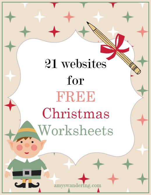Free Christmas Worksheets  Worksheets Homeschool and School