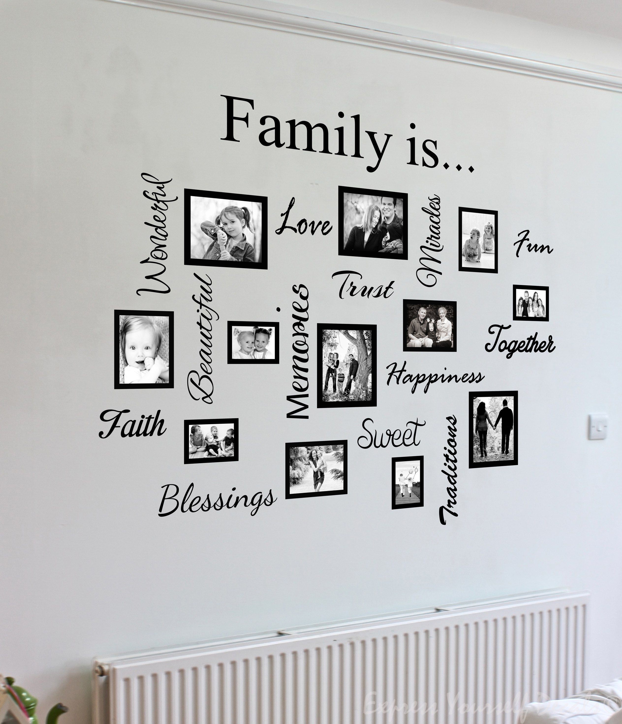 Family Quote Picture Frame Gallery Wall Art Decal Sticker