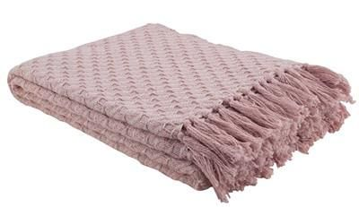 Blush Pink Throw Blanket Cozy Woven Throw In Blush Pink  Blush Pink Cozy And Pink Throws