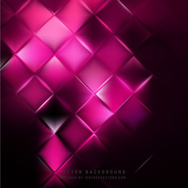 Abstract Black Pink Square Background Pattern Background