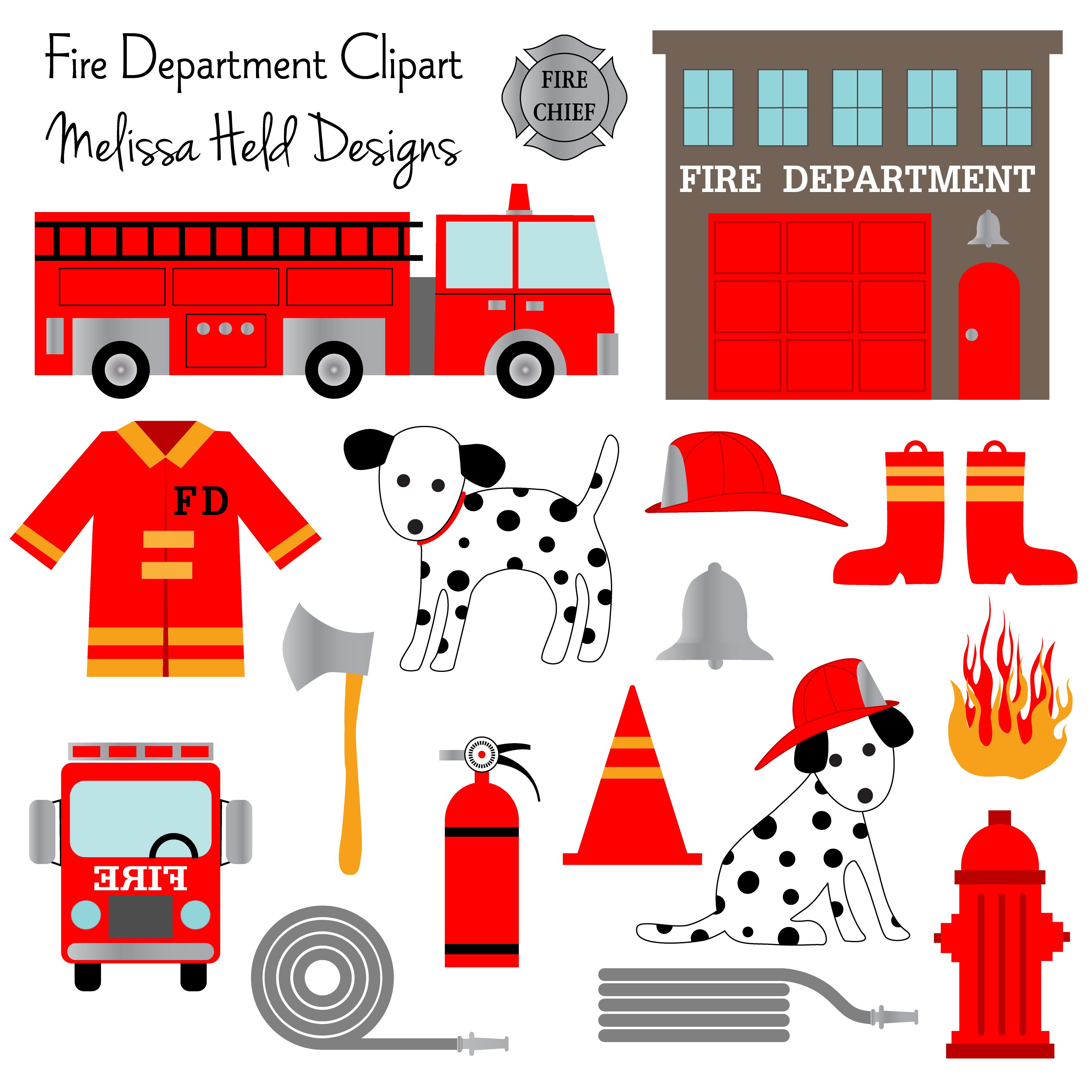 Fire Department Clipart Fire department, Puppy crafts