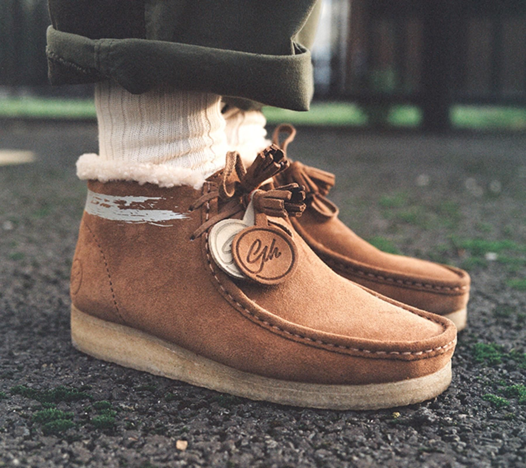 3c092f296 Goodhood Reworks the Clarks Originals Wallabee. A very British collaboration