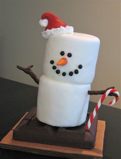 S'more Snowman By meihana on CakeCentral.com