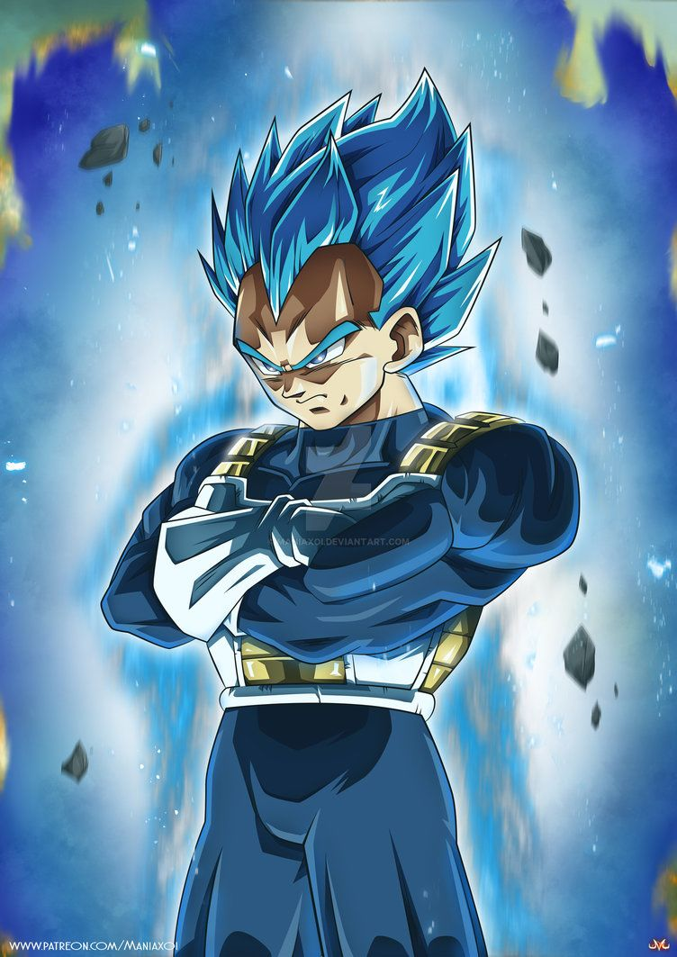 Vegeta Ssblue Full Power By Maniaxoi Anime Dragon Ball Super Anime Dragon Ball Dragon Ball Art