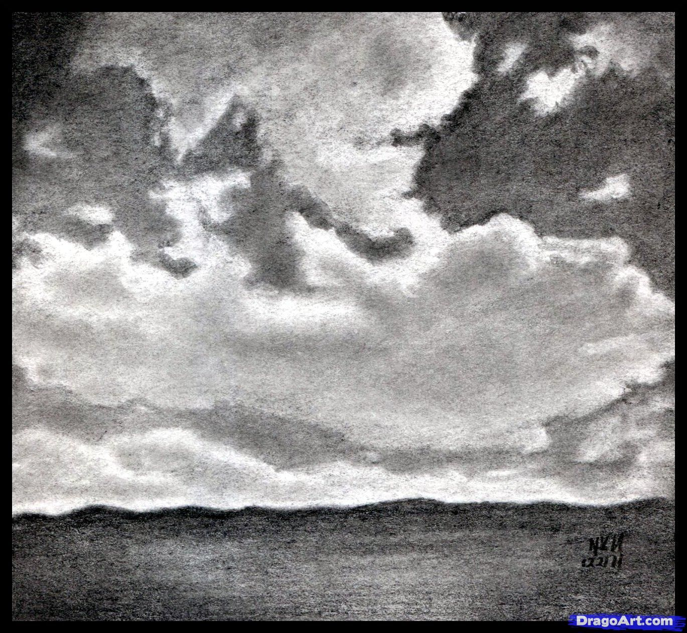How To Draw Realistic Clouds Draw Clouds Step By Step Other