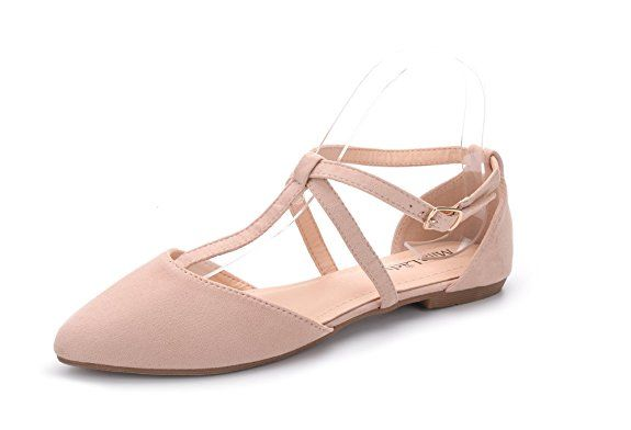 821733d04e69 Mila Lady Laurel New Fashion Womens Pointed Toe Ankle Wrap T-Strap D Orsay