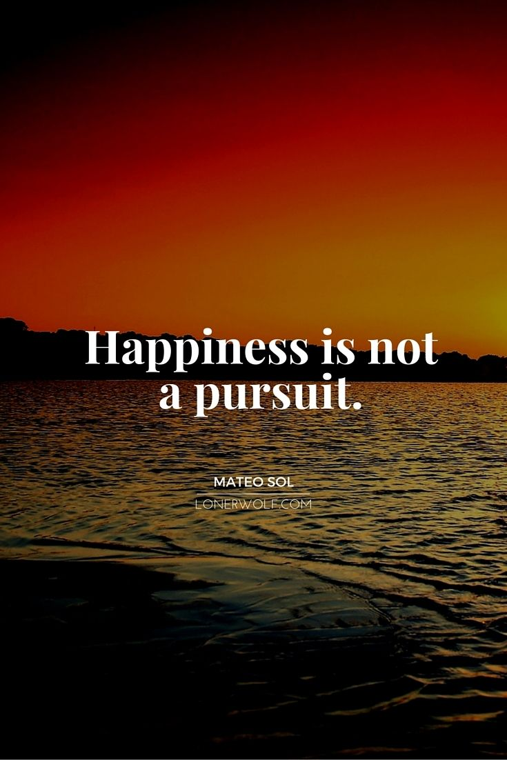 Inspirational Spiritual Quotes Happiness Is Not A Pursuit Beautifully Said Pinterest