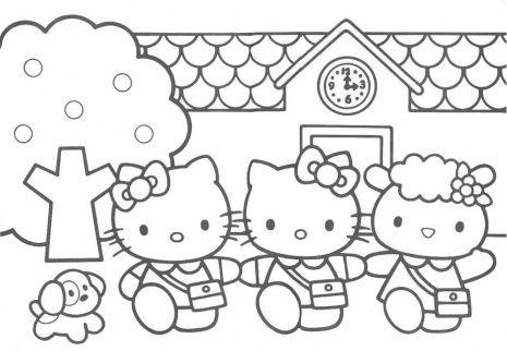 Hello Kitty Friends Hello Kitty Coloring Kitty Coloring Hello Kitty Colouring Pages