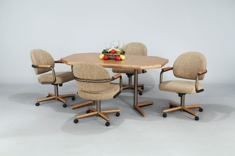 Dining Chairs With Casters Swivel Dining Chairs With Casters