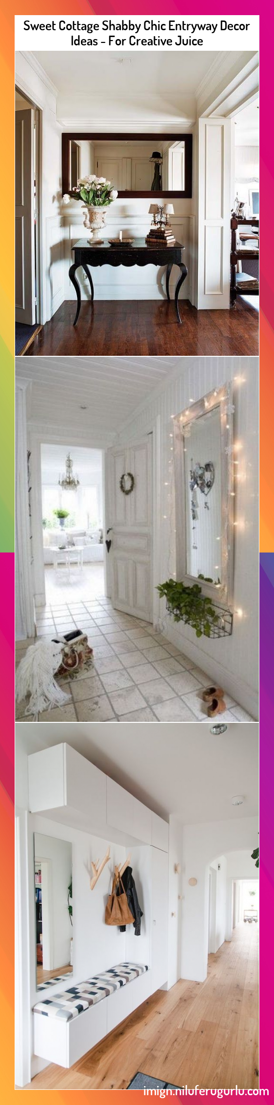 Sweet Cottage Shabby Chic Entryway Decor Ideas - For Creative Juice #Sweet #Cottage #Shabby #Chic #Entryway #Decor #Ideas #For #Creative #Juice