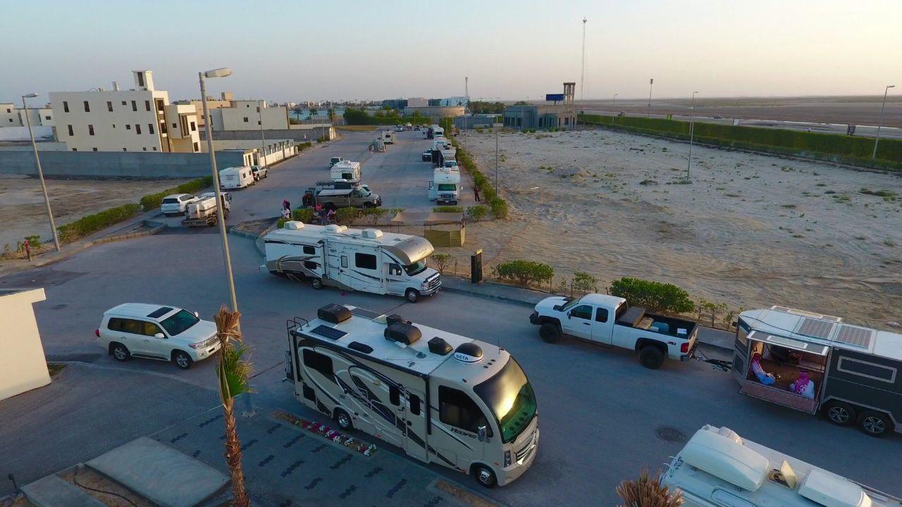 2 March 2018 14 6 1439 التجمع الاول لملاك الكرفانات والموتر هوم على مستوى الخليج أقيم في المملكة العربية السعودية في المنطقة الشرقية ف Caravans Road Structures
