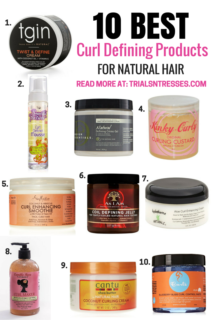 10 Best Curl Defining Products For Natural Hair | Curly hair ...