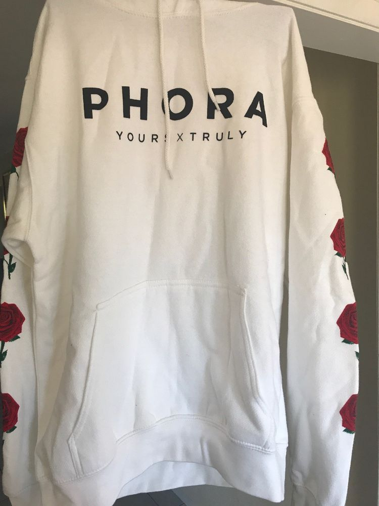 01f862d1cad0 PHORA YOURS TRULY ROSES WHITE HOODIE #fashion #clothing #shoes #accessories  #otherclothingshoesaccessories (ebay link)