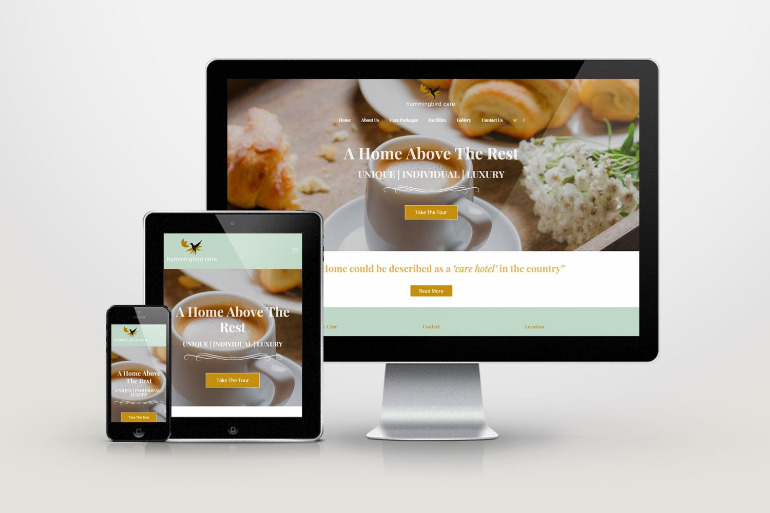 Responsive information/booking website for somerset care home ...