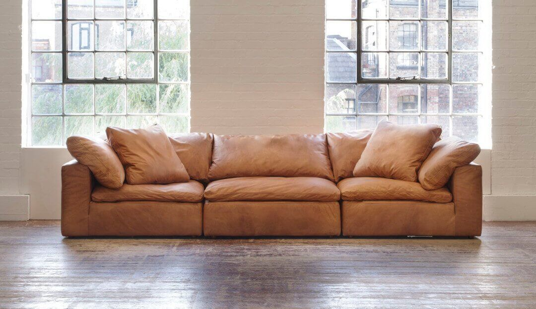 Feather Extra Deep Leather Corner Sofa Leather Corner Sofa Leather Modular Sofa Sofa