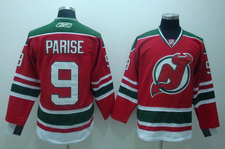 22.00 NHL Jerseys New Jersey Devils Zach Parise 9 Red White ... d329f1bc1