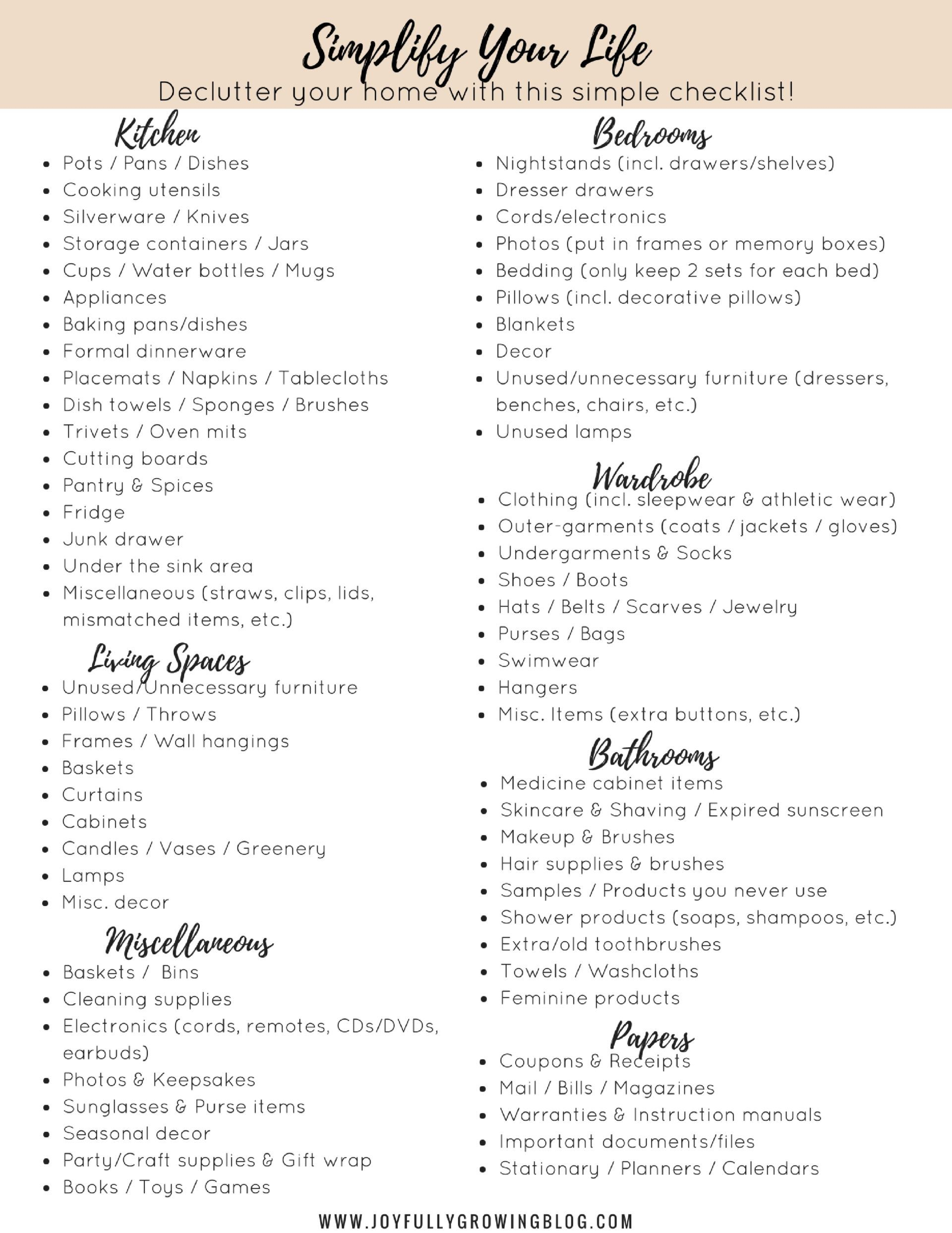 Declutter Your Home   Simplify Your Life   Free Printables ...