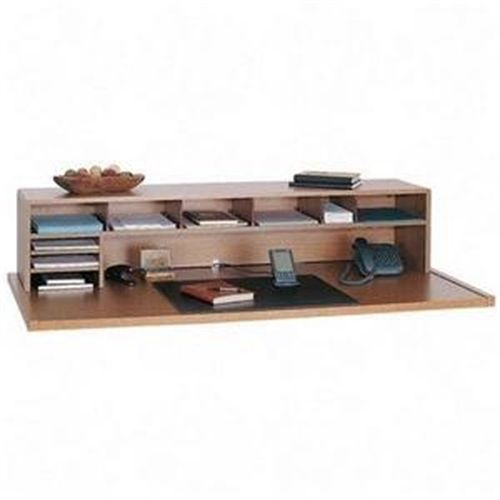 Safco 3671MO Low Profile Wood Desktop Organizer