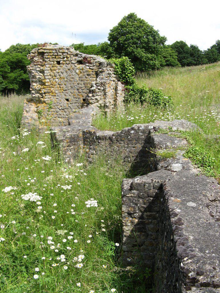 Le Rubricaire-Thermes du castellum gallo-romain-Façade sud. Sainte-Gemmes-le-Robert Pays-de-la-Loire