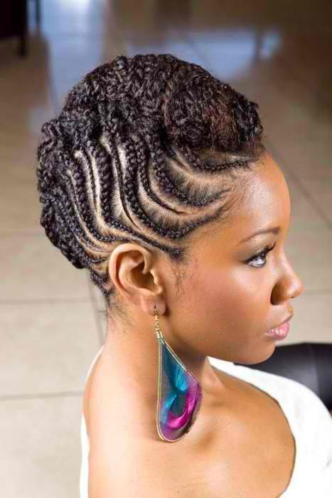 Natural Hair Cornrow Updo Braids With Images Braids For