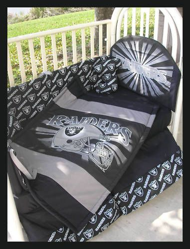 Oakland Raiders Baby Crib Bedding