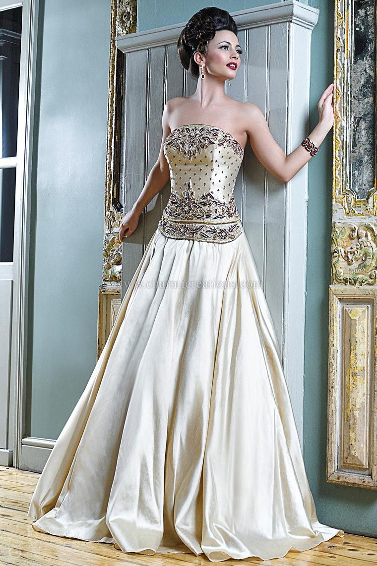 velvet wedding dress Registry Bridal Gowns Champagne gold fusion bridal gown in raw silk with maroon velvet patchwork embroidery