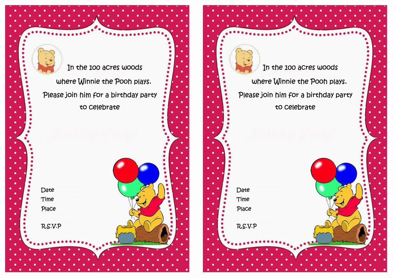 winnie pooh birthday invitations hd - Buscar con Google | Winnie The ...