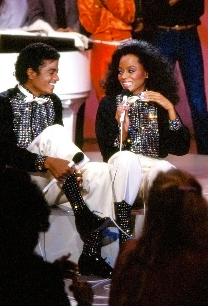 Diana Ross & Michael Jackson. #doessparkleyasssocksareslayingmelife
