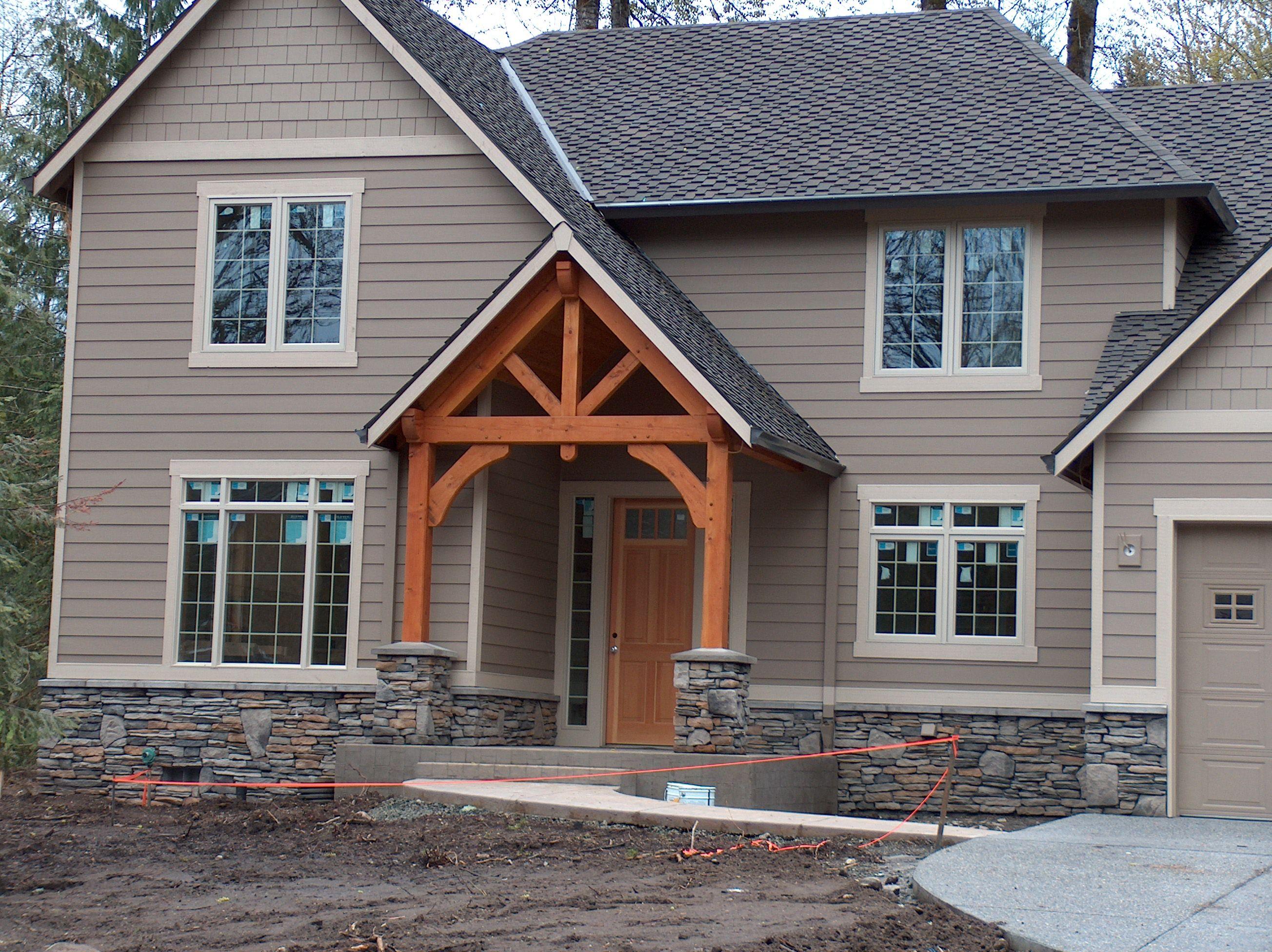 Timber frame entry timber frame entry pinterest for Timber frame design