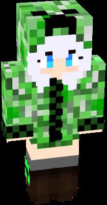 An Anime Creeper Girl Minecraft Anime Girls Minecraft Skins Creeper Minecraft Anime