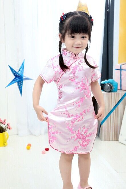 cb4aa56911ee 2017 New Summer Baby Girl Dresses Kid Chinese New Year Style chi-pao ...