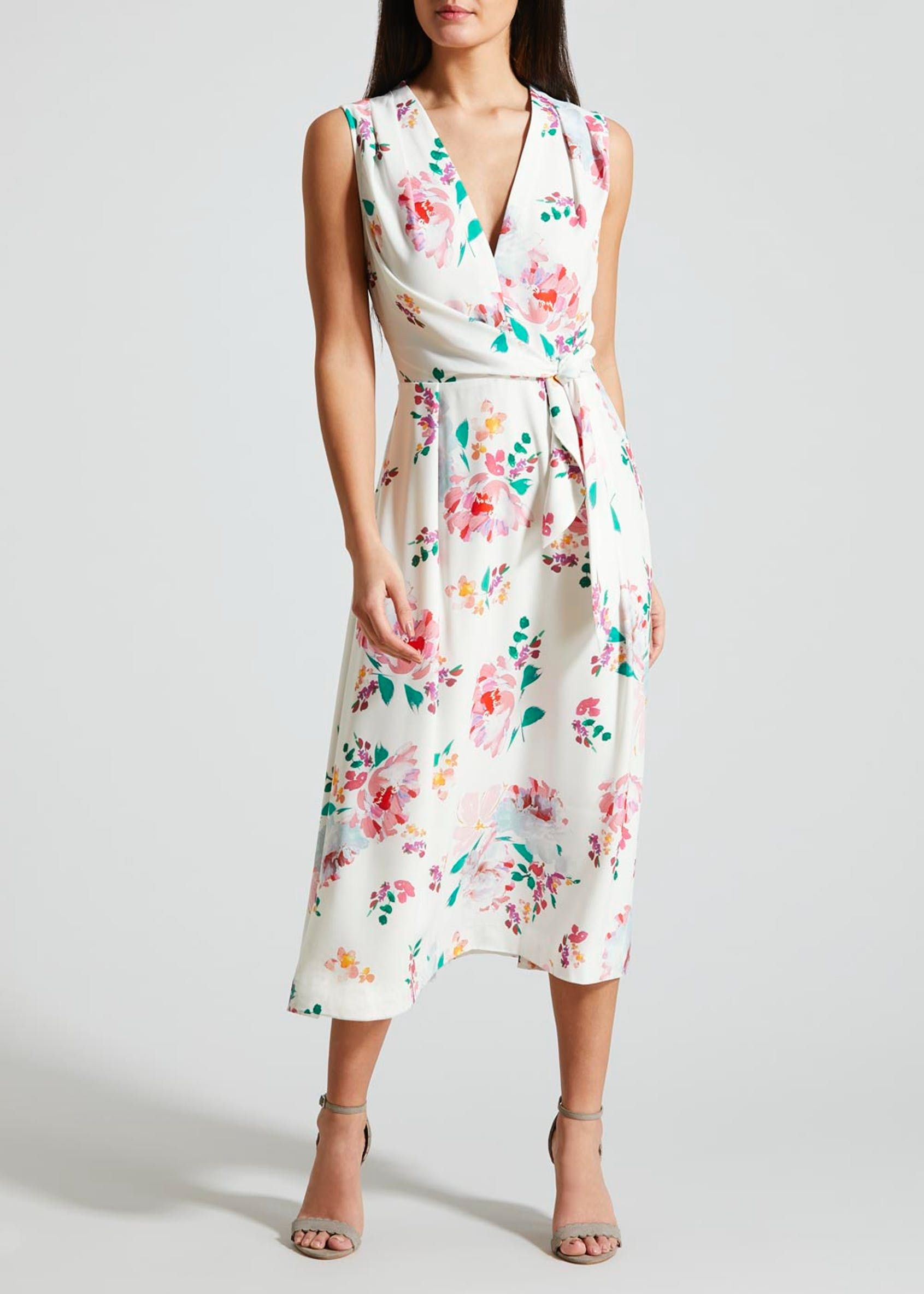c1b441d14cbb5e FWM Floral Toe Side Wrap Dress in 2019 | what to wear? | Dresses ...