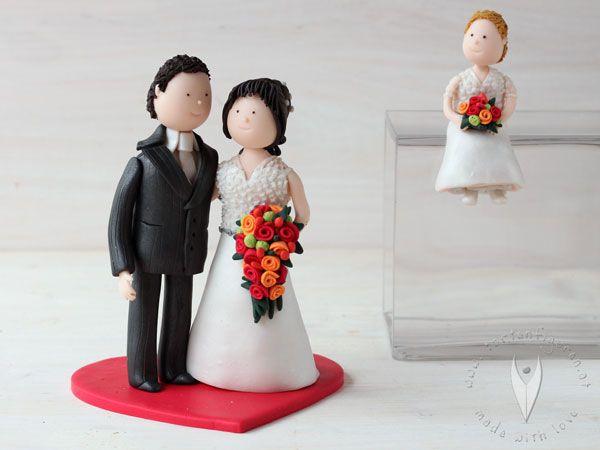 Familien Brautpaar Mit Kind Tortenfigur Fur Die Hochzeitstorte