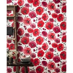 Graham Brown Poppies Red Removable Wallpaper 32 467 Red Flower Wallpaper Red Wallpaper Red Poppies