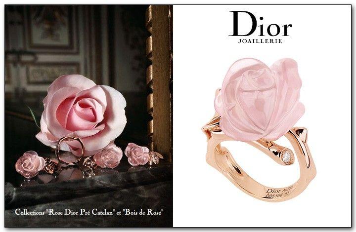 49cb1abd23d168 Dior, bague Rose Dior Joaillerie, Bague Rose, Accessoires, Bijoux, Mode  Femme