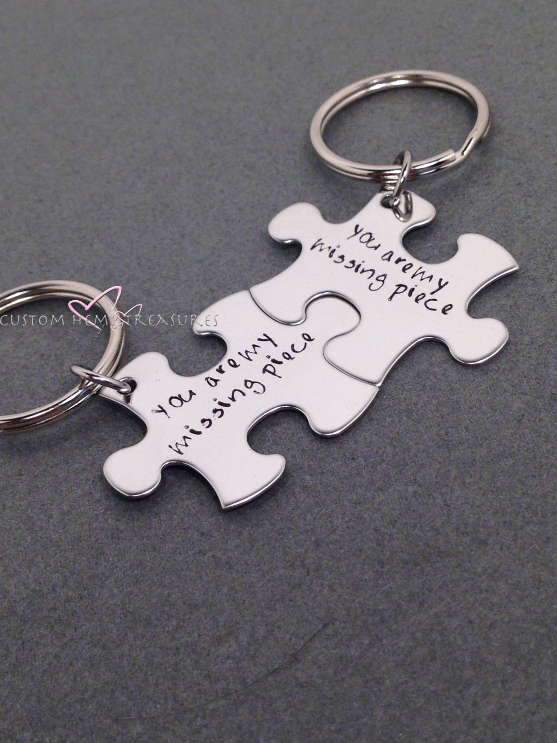 Couples Key Chains, You are my missing piece, Long Distance ...