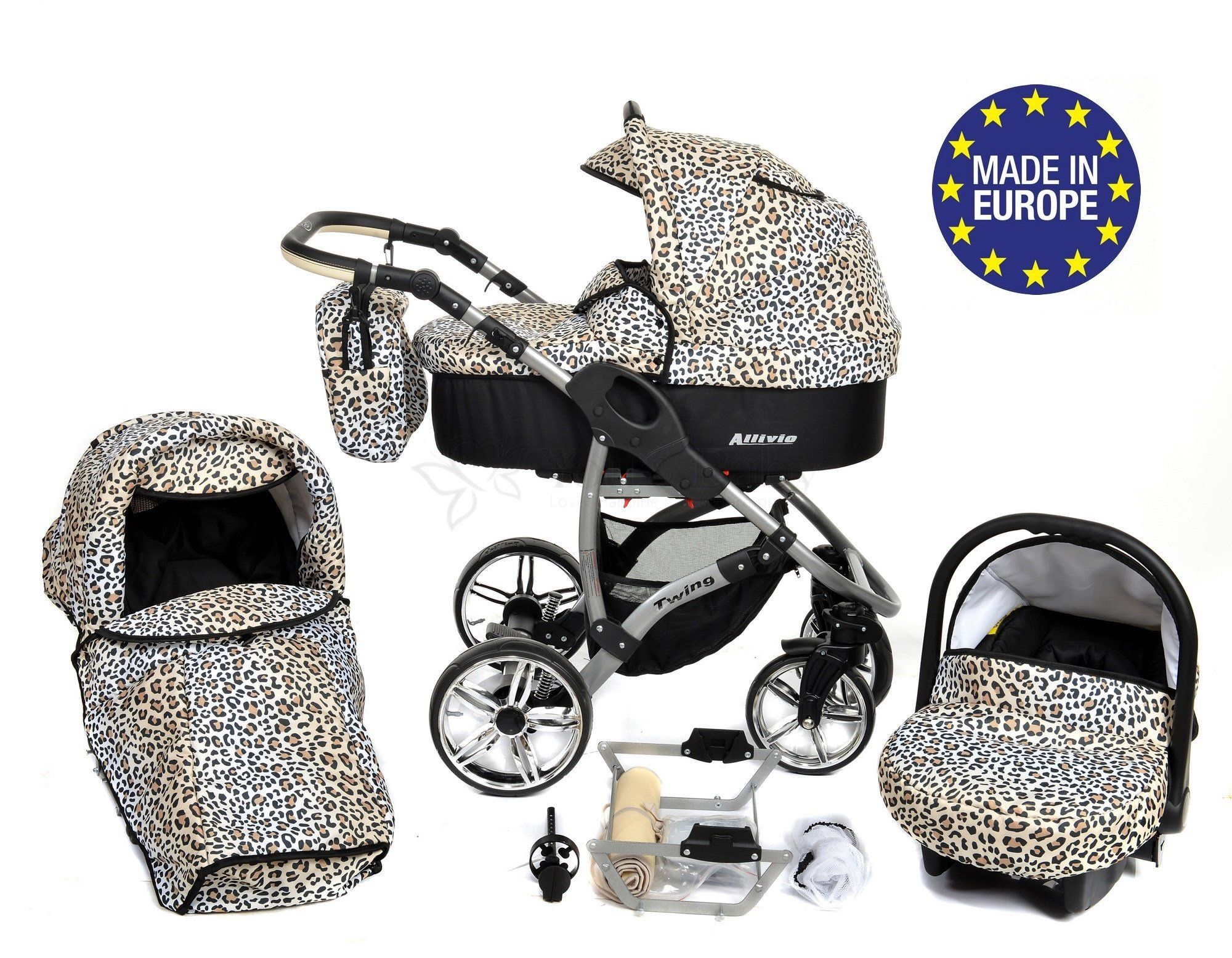 ALLIVIO, 3in1 Travel System With Baby Pram, Car Seat
